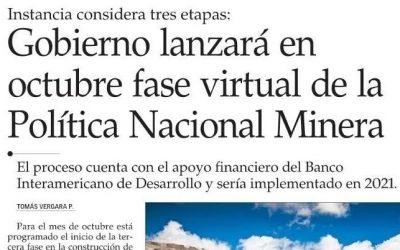 Gobierno lanzará en octubre fase virtual de la Política Nacional Minera
