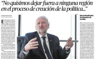 """Ministro de Minería: """"No quisimos dejar fuera a ninguna región en el proceso de creación de la política"""""""