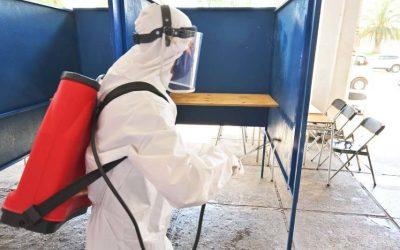 Emprendedores higienizan con nanopartículas de cobre el Estadio Nacional