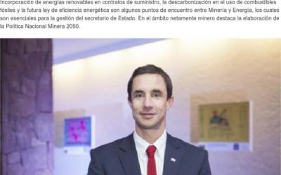 La PNM 2050 es uno de los ejes temáticos del nuevo ministro de la cartera, Juan Carlos Jobet