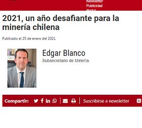 Subsecretario se refiere a la PNM 2050 en columna de opinión – Revista Minería Chilena